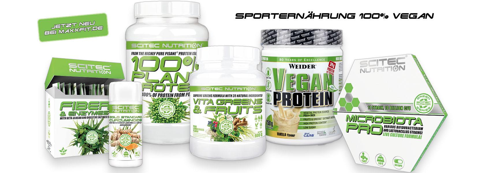 Vegane Sporternährung bei Maxxfit.de